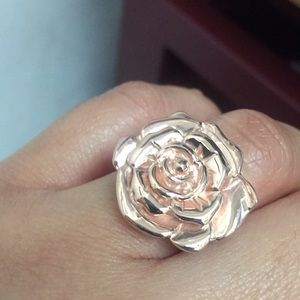New Argentium silver ring pink plated.